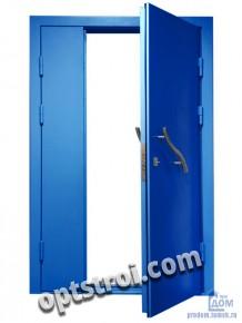 Двустворчатая металлическая дверь. Модель С200-001