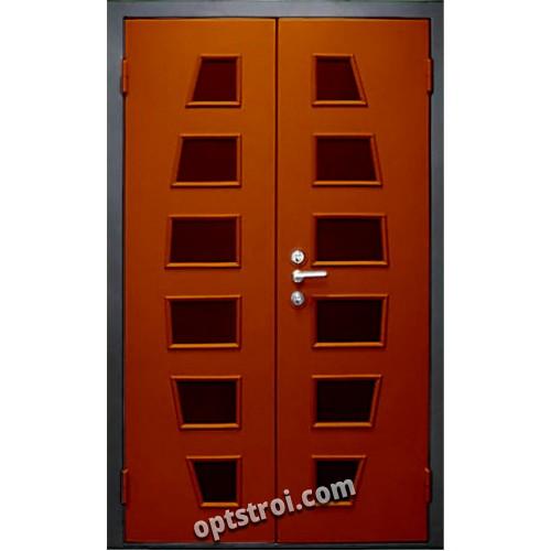 железные двери двустворчатые с окошками