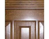 Входные металлические двери с отделкой из массива