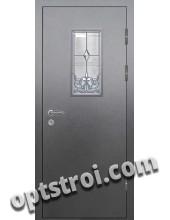 Витражная металлическая дверь в частный дом - ЧД-001