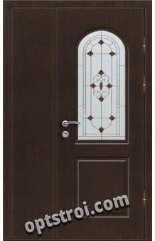 Витражная металлическая дверь в частный дом - ЧД-003