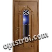 Входная металлическая дверь в загородный дом. Модель 863