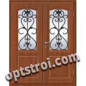 Входная металлическая дверь в коттедж - модель КТ-001