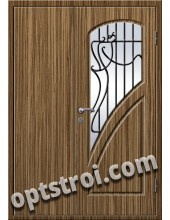 Входная металлическая дверь в коттедж - модель КТ-011