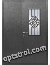 Входная металлическая дверь в коттедж - модель КТ-016