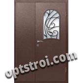 Входная металлическая дверь в коттедж - модель КТ-017