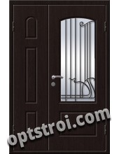 Входная металлическая дверь в коттедж - модель КТ-004