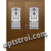 Входная металлическая дверь в коттедж - модель КТ-008