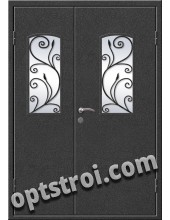 Входная металлическая дверь в коттедж - модель КТ-009