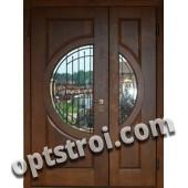 Входная металлическая двустворчатая дверь - модель 890