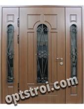Входная металлическая двустворчатая дверь - модель 891