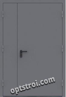 Входная металлическая двустворчатая дверь - модель 894
