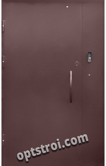 Входная металлическая двустворчатая дверь - модель 896