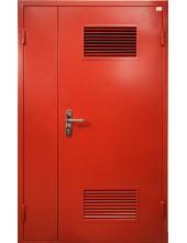 Входная металлическая двустворчатая дверь - модель 897
