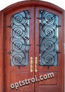 Нестандартная  металлическая дверь. Модель Дунай