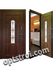 Теплая металлическая входная дверь для дома - модель 908