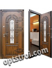 Теплая металлическая входная дверь для дома - модель 912