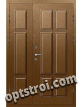 Входная металлофиленчатая двухстворчатая дверь ПР-011