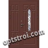 Входная металлическая двухстворчатая дверь ПР-018