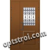 Входная металлофиленчатая двухстворчатая дверь ПР-020