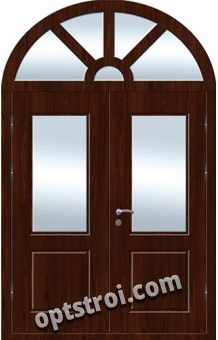 Входная металлическая двухстворчатая дверь ПР-024