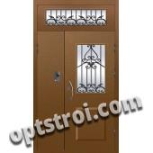 Входная металлофиленчатая двухстворчатая дверь ПР-026