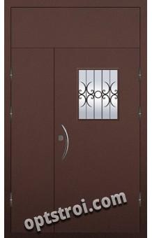 Входная металлическая двухстворчатая дверь ПР-005