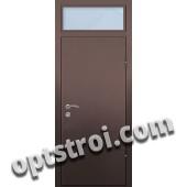 Входная металлическая дверь со стеклом модель - СТ-010