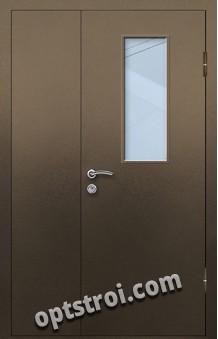 Входная металлическая дверь со стеклом модель - СТ-011