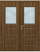 Входная металлическая дверь со стеклом модель - СТ-012