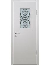 Входная металлическая дверь со стеклом модель - СТ-013