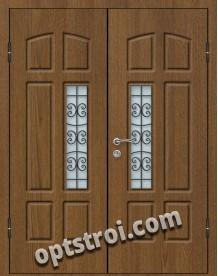 Входная металлическая дверь со стеклом модель - СТ-016
