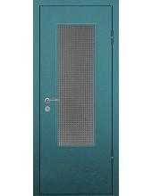 Входная металлическая дверь со стеклом модель - СТ-017