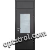 Входная металлическая дверь со стеклом модель - СТ-018