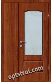 Входная металлическая дверь со стеклом модель - СТ-019