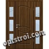 Входная металлическая дверь со стеклом модель - СТ-022