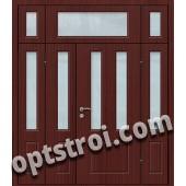 Входная металлическая дверь со стеклом модель - СТ-023