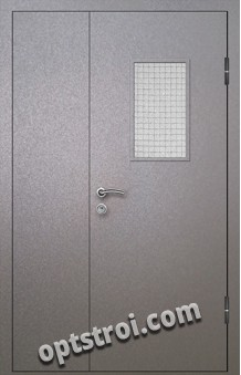 Входная металлическая дверь со стеклом модель - СТ-003