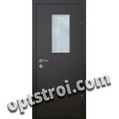 Входная металлическая дверь со стеклом модель - СТ-005