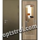 Входная металлическая дверь с зеркалом модель - ДЗ-010