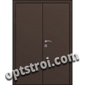 Входная металлическая двухстворчатая дверь для тамбура модель - ДВТ-001