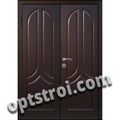 Входная металлическая двухстворчатая дверь для тамбура модель - ДВТ-008