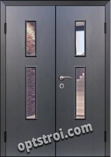 Входная металлическая двухстворчатая дверь для тамбура модель - ДВТ-009
