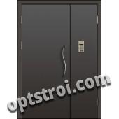 Входная металлическая тамбурная дверь в подъезд модель - ТП-002
