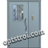 Входная металлическая тамбурная дверь в подъезд модель - ТП-006