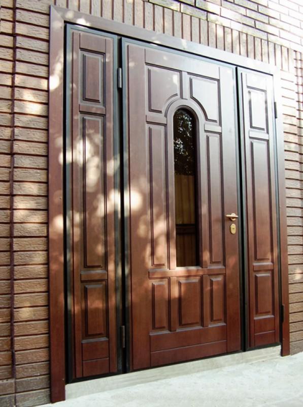 дверь металлическая входная с окно элит